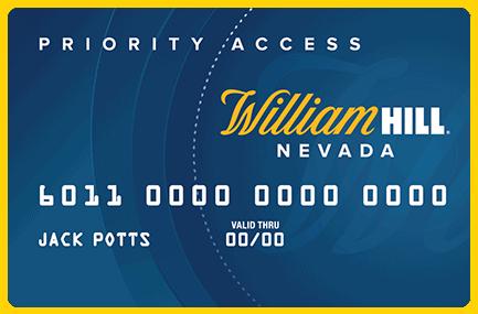 William Hill Priority Access card